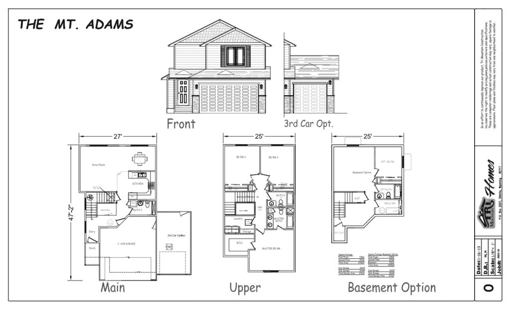 mt adams home plan