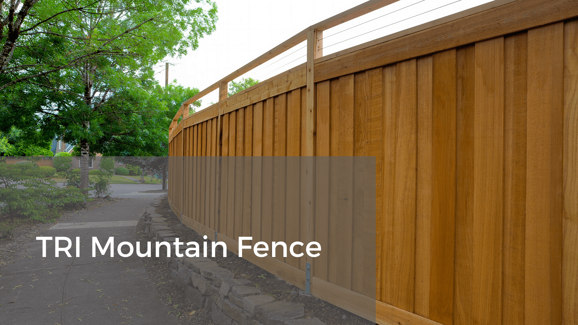 tri mountain fence